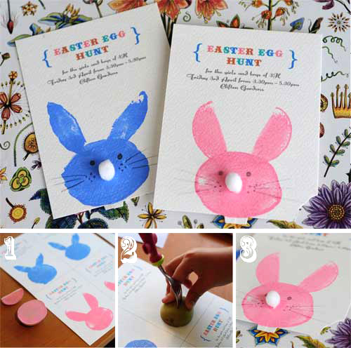 How to make your own easter bunny cards go make me gather those hidden chocolate eggs before your dog sniffs them out whatever youre doing for easter heres a very quick and simple way m4hsunfo