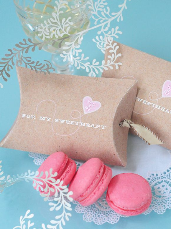 Printable Valentines Day Pillowbox