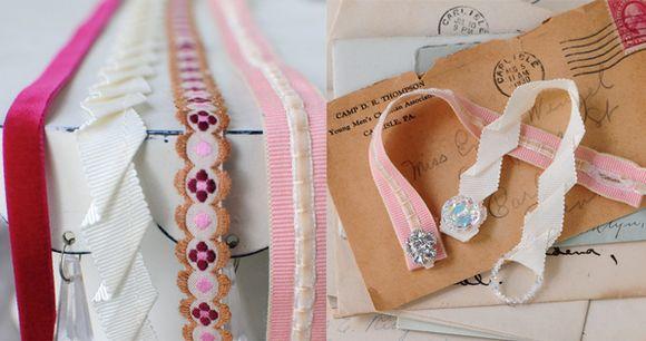Antique-letters-and-ribbon-bracelets