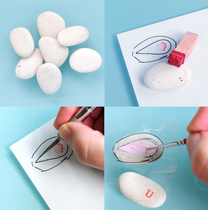 Painted-rock-magnets