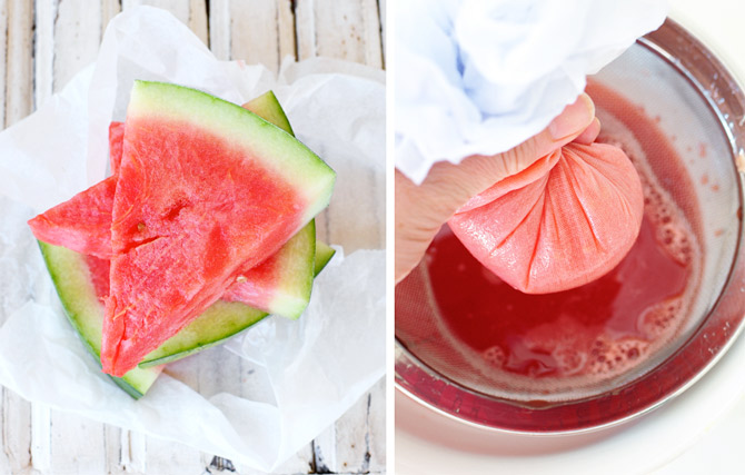 Watermelon-and-muslin-to-drain-juice