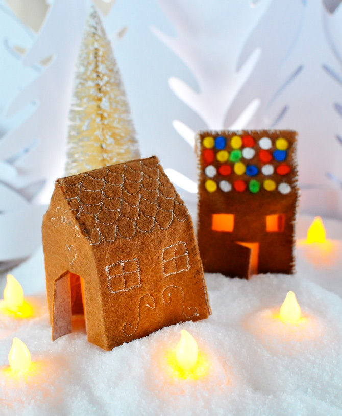 Felt-gingerbread-houses
