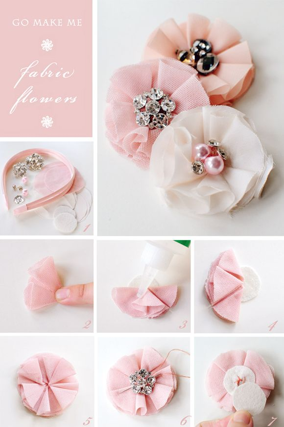 Here Is A Very Easy Way To Make Fabric Flower And We Think This Technique Lends Itself Especially Well Soft Velvety Fabrics