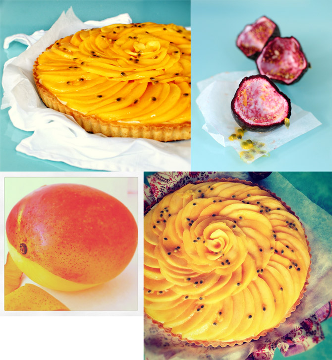 Mangoes,-passionfruit-and-tart