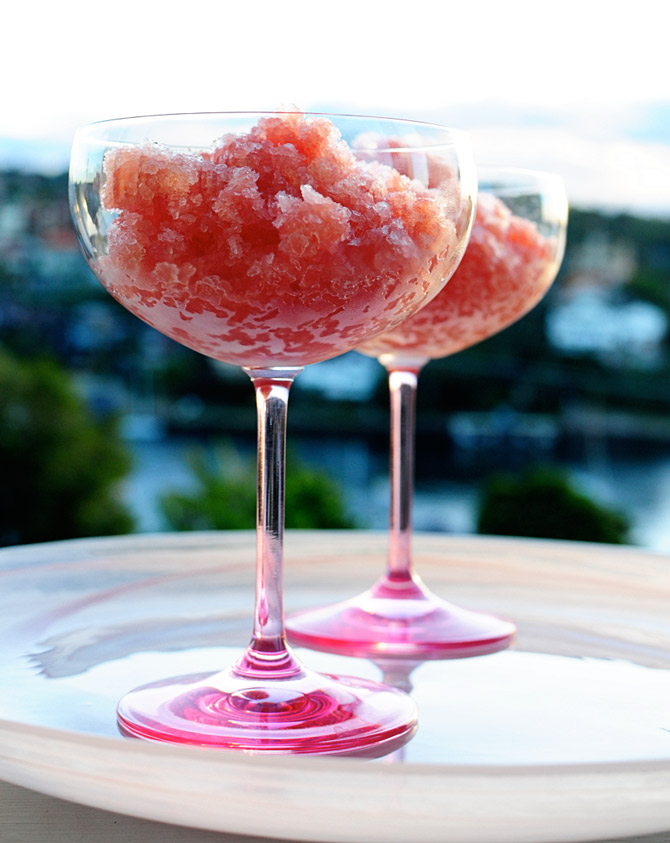 Granita-on-glass-plate