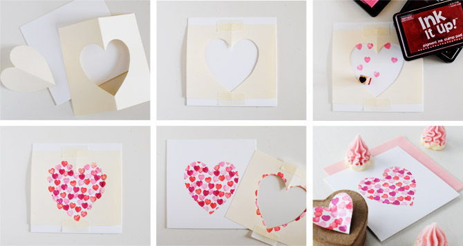 how to make a valentines heart card