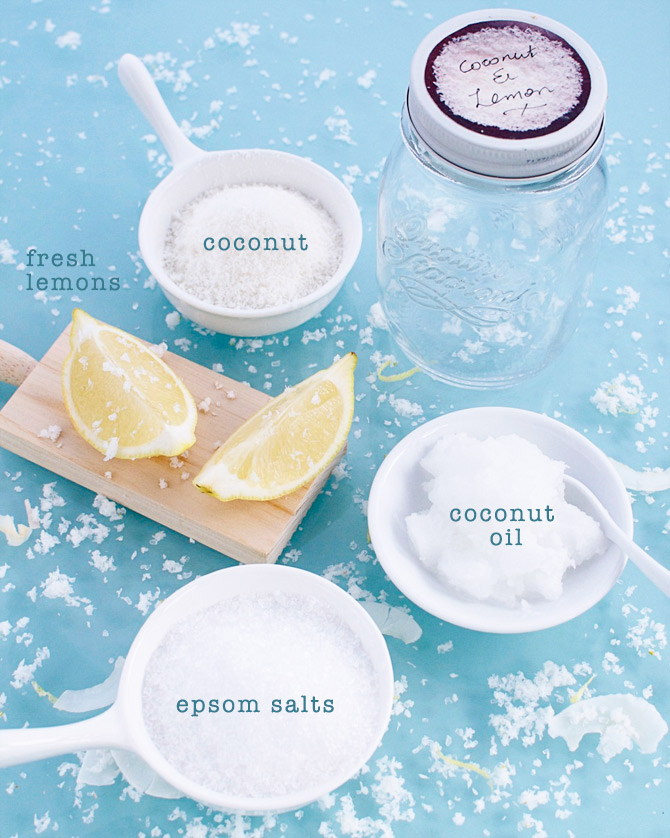 Coconut-and-Lemon-scrub-ingredients