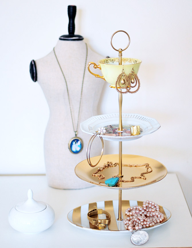 How-to-make-a-vintage-jewelry-stand & go make me how to make a jewelry or cake stand / diy project - Go ...