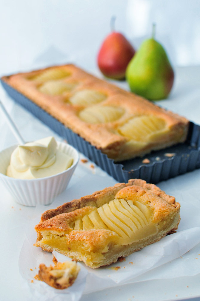 ... so i had four gorgeous pears that almond pear tart pear almond tart