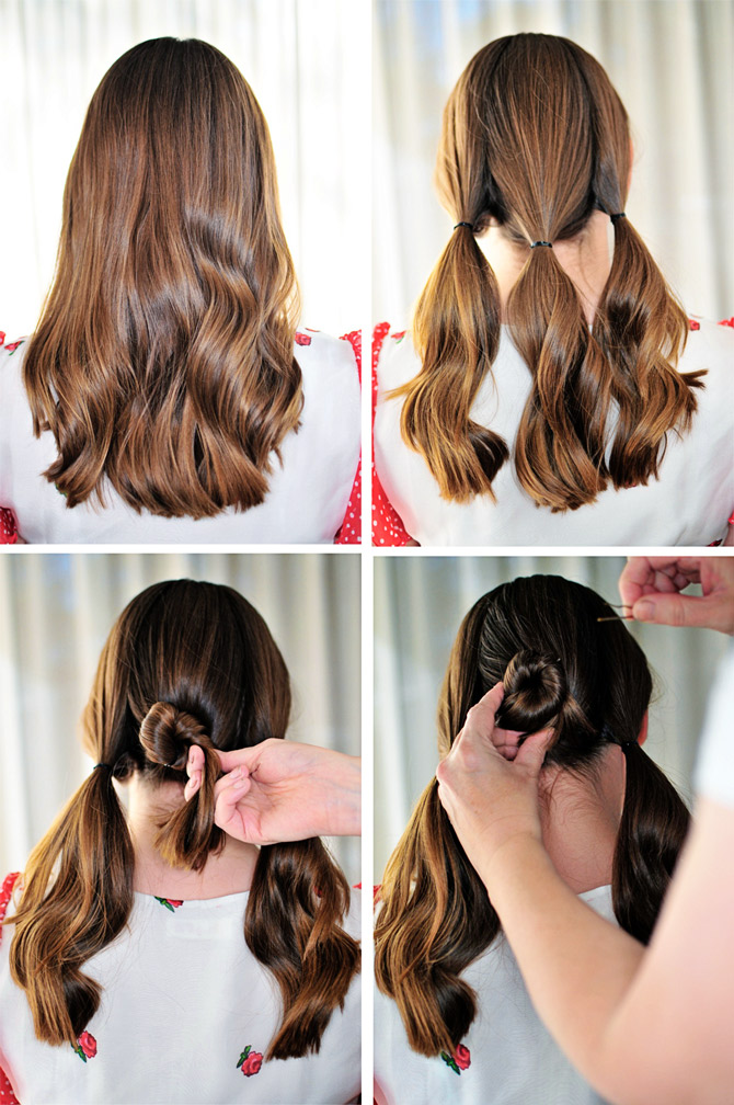 Steps To Make A 3 Bun Hairstyle