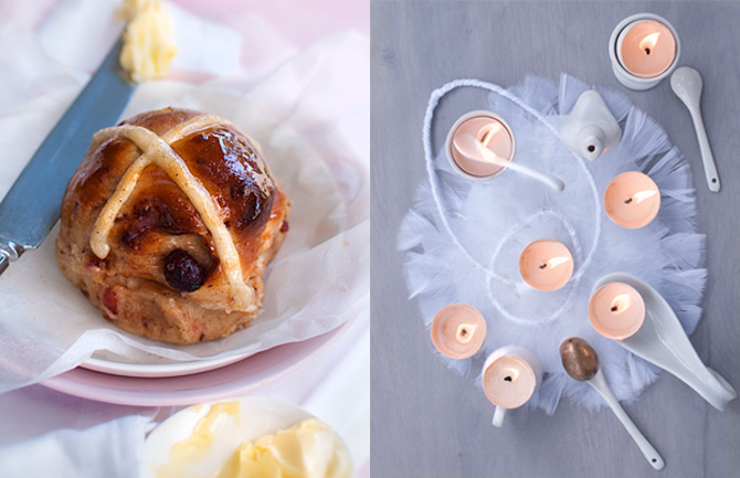 Cranberry-Easter-buns-and-egg-shell-candles