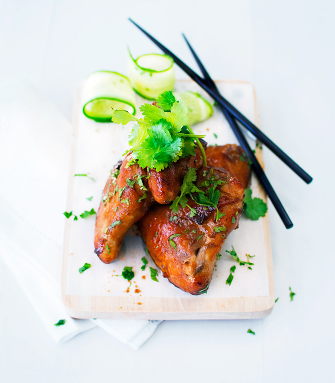 Honey-soy-chicken-with-coriander