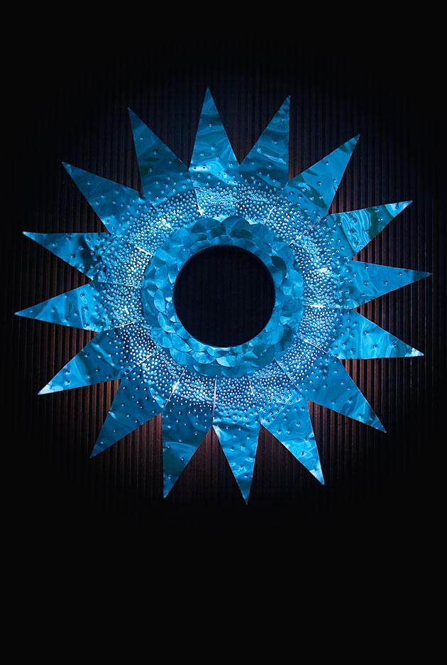Metal-wreath-lit-at-night