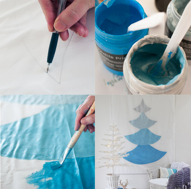 How-to-make-a-painted-Christmas-Tree-Mural