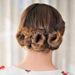 Three buns hair style diy